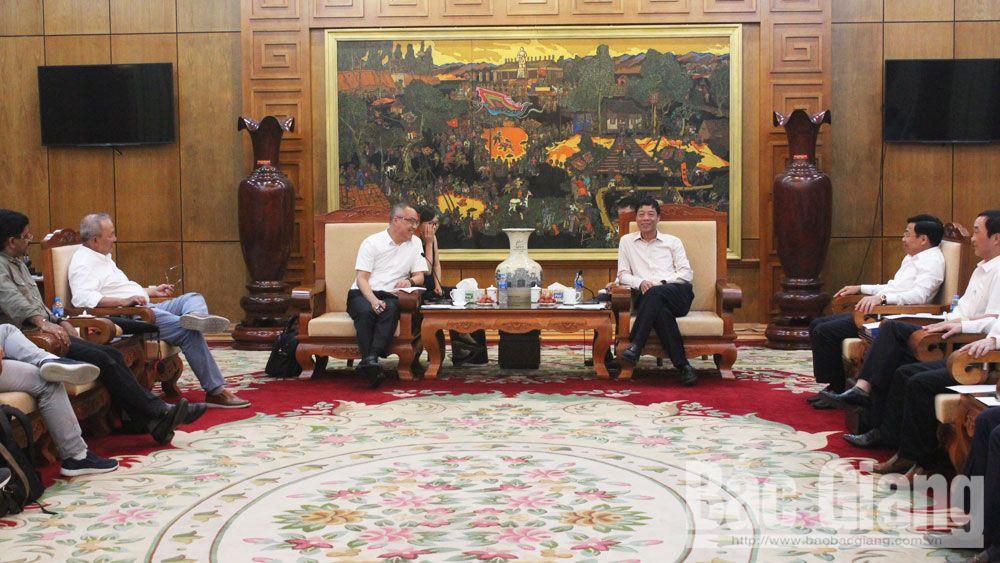 Bí thư Tỉnh ủy Bắc Giang Bùi Văn Hải làm việc với Tập đoàn Foxconn